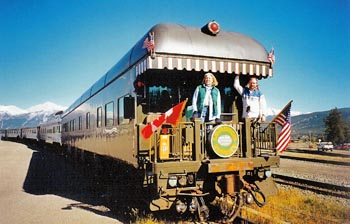 Luxury rail travel via private train car in the Canadian Rockies on VIA rail