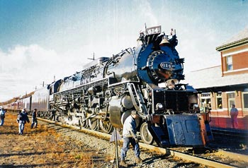 Adventure travel rail charter excursions include steam locomotives